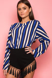 Blue Stripe Blouse