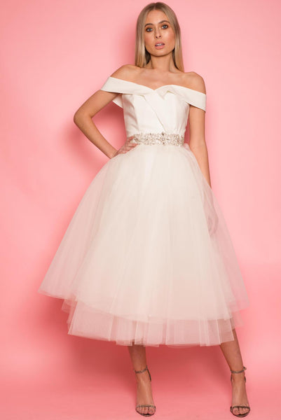 Ivory Skylla Tulle Dress