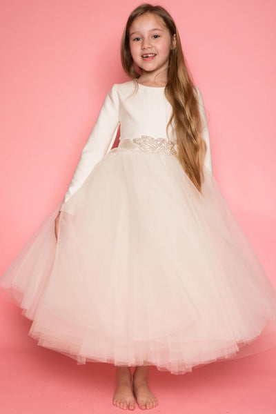 Arianna Ivory Layered Tulle Dress