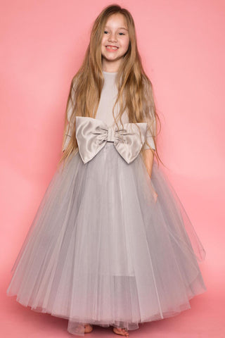 Dream Grey Layered Tulle Skirt