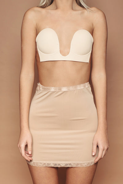 Stick On Plunge Bra - Nude