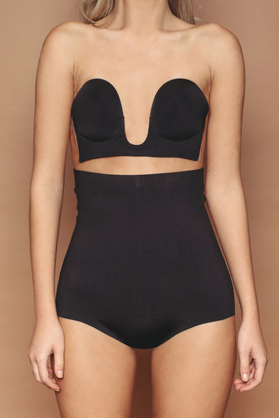 Black High Waisted Knicker
