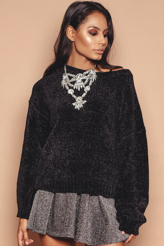 Black Soft Knit Jumper