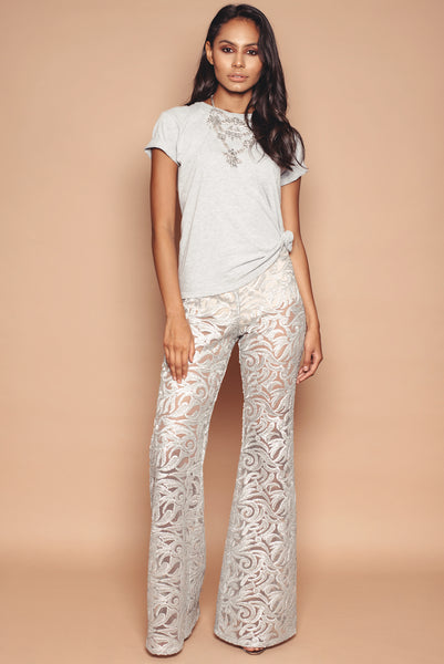 Silver Embroidered Trousers