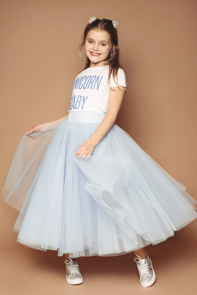 Baby Blue Mini Me Tulle Skirt