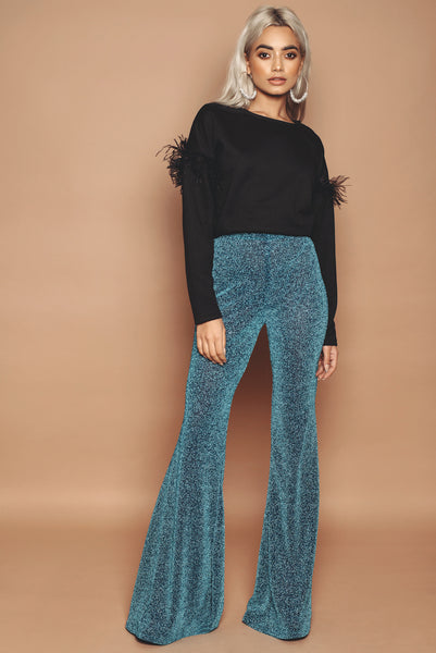 Turquoise Sparkle Flares