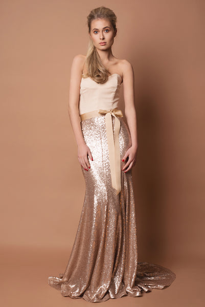 Crepe and Sequin Freya Bridesmaid Dress