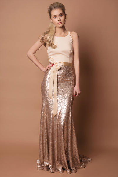 Crepe and Sequin Fifi Bridesmaid Dress