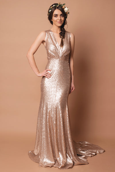 Sequin Rica Bridesmaid Dress