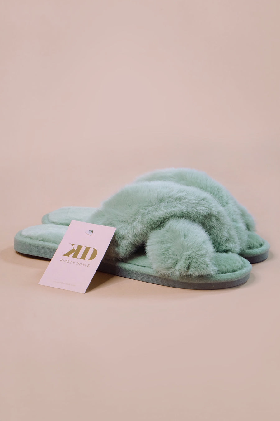 Fluffy Lounge Slippers - SALE - Colour - BLUE