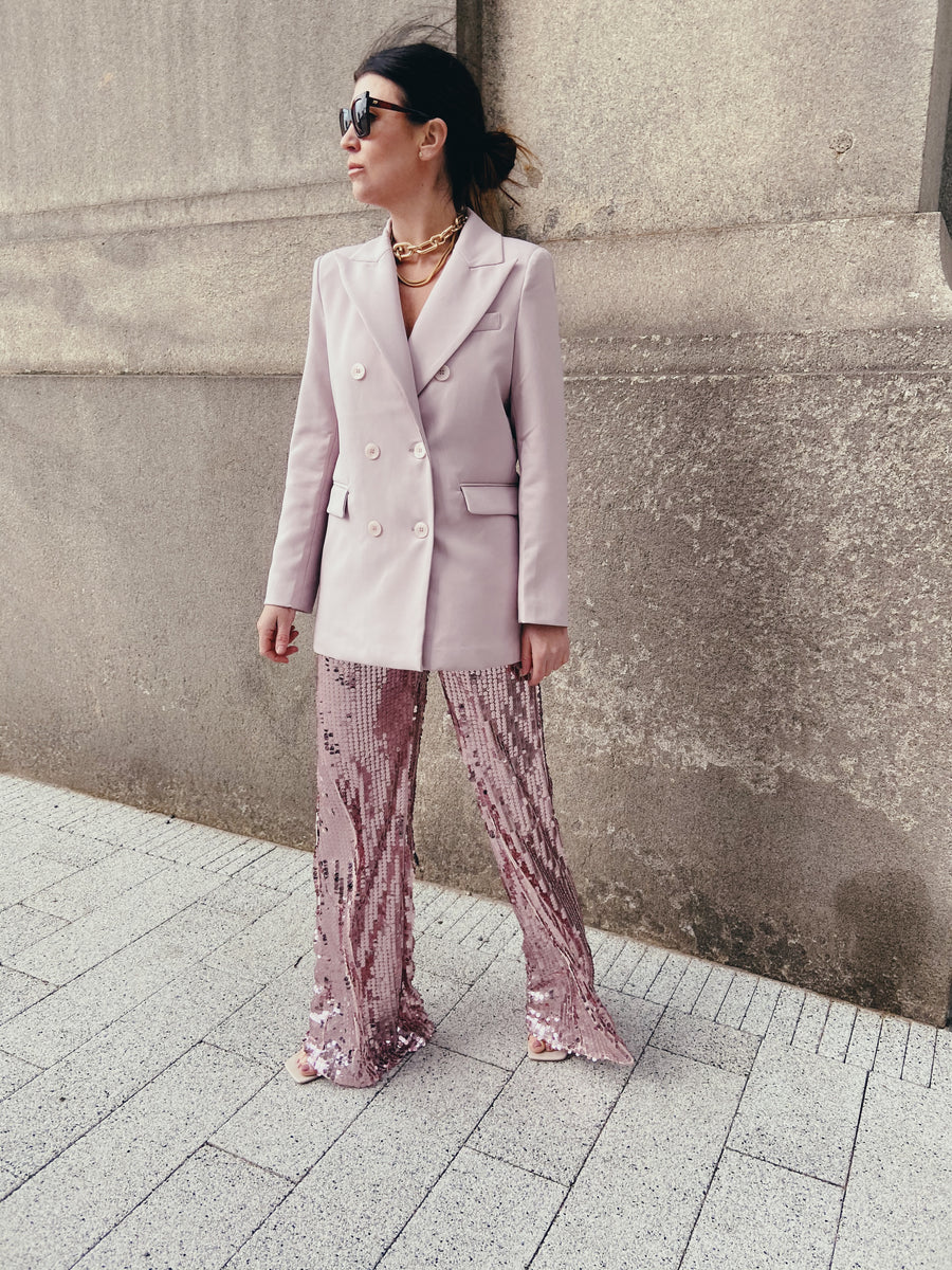 Taffy Pink Sequin Party Flares