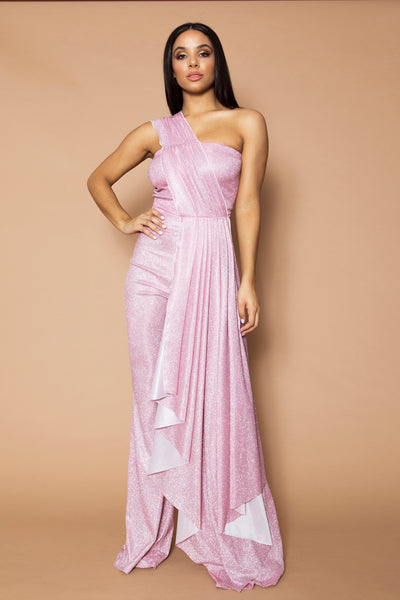 Pink Sparkle Lurex Jumpsuit