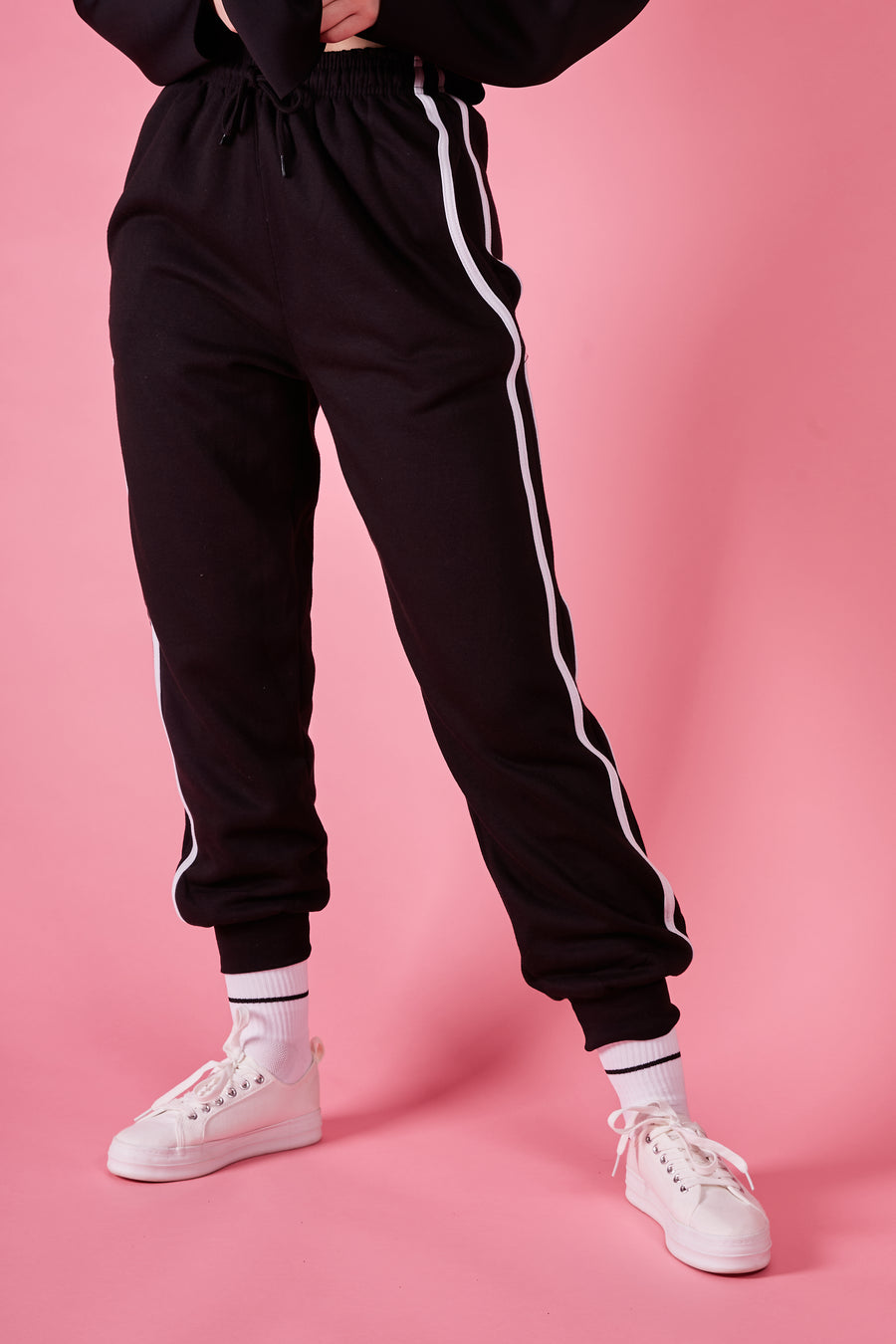 Black Stripe Lounge Jogger