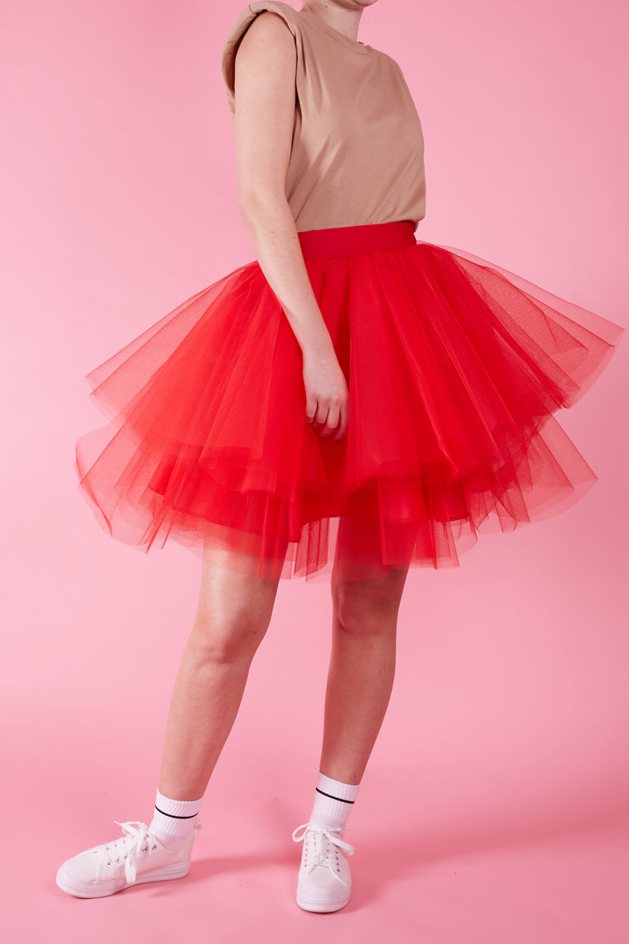 Red Ra Ra Tulle Skirt