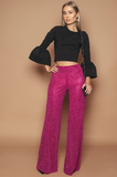 Pink Sparkle Wide Leg Trousers