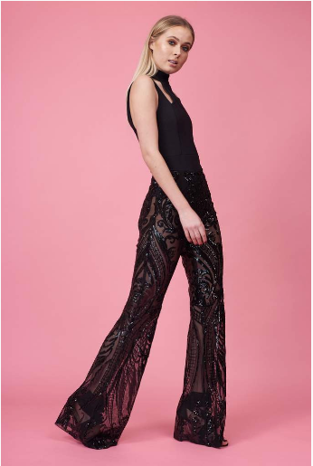 Black Beaded Super Flares