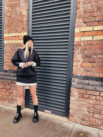 Black Mini Sweater Dress