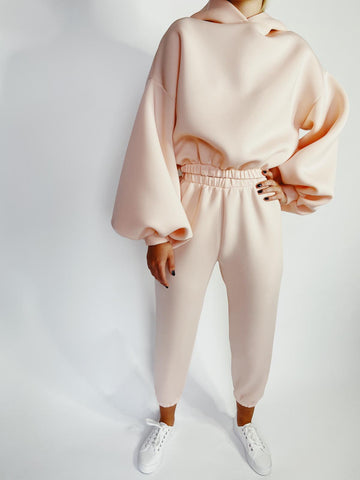 Peach Neoprene Long Lounge Set