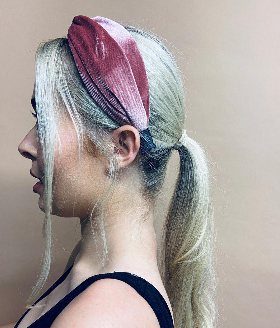 Flamingo Pink Velvet Headband
