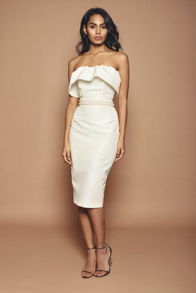 Penelope Dress with Pearl Belt