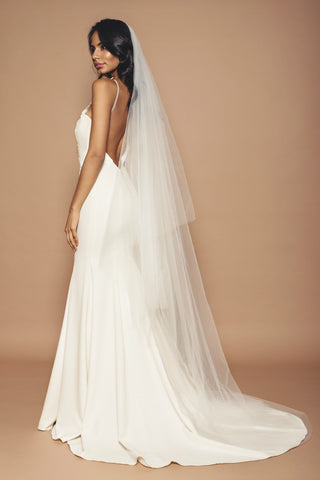 Cathedral Length Plain Tulle Veil