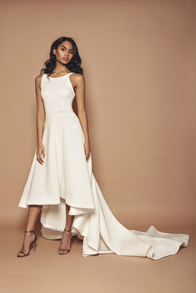 Ivory Dipped Hem Bridal Gown Kirsty Doyle Fashion