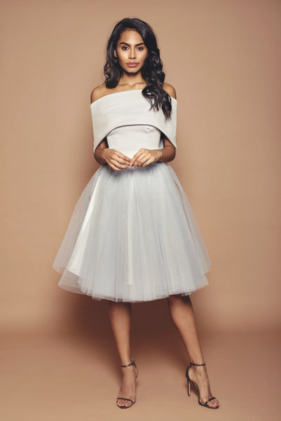 Silver Holly Bridesmaid Dress - short