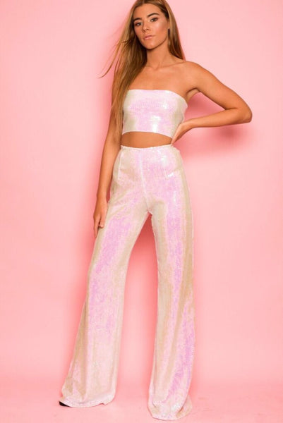 Pearlescent sequin co-ord