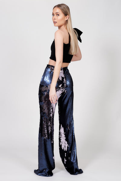 Purple Irreversible Mermaid Sequin Flares