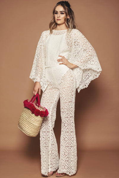 Ivory Lace Beach Co-ord