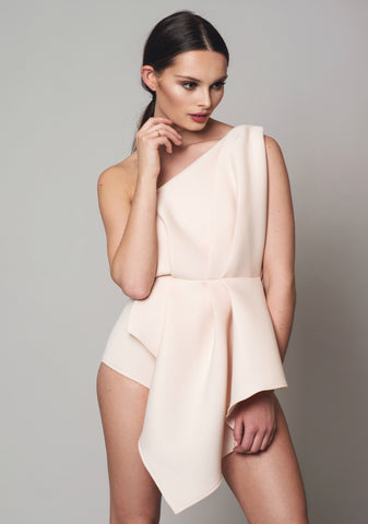 Nude Folded Bodysuit