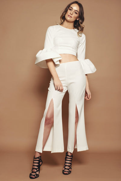 Ivory Split Leg Trousers