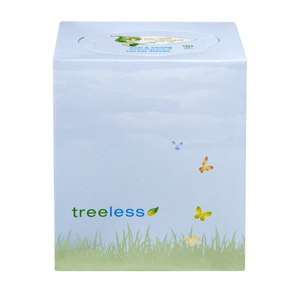 Green2 Tree Free Facial Tissue Cube 90 Sheet - Green Valley Packaging