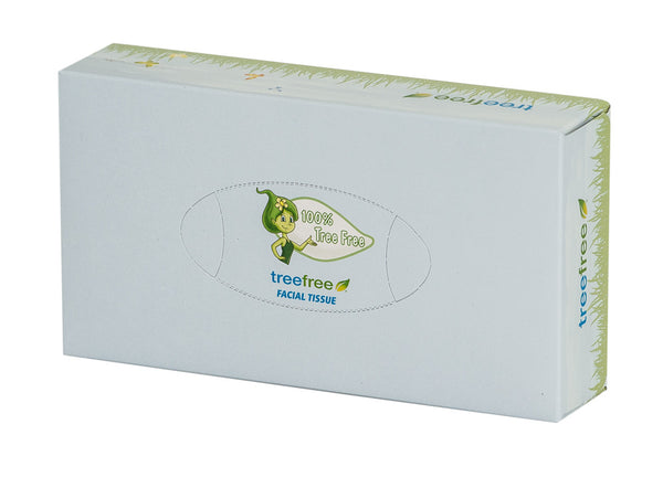 Green2 Tree Free Facial Tissue Flat 100 Sheet - Green Valley Packaging
