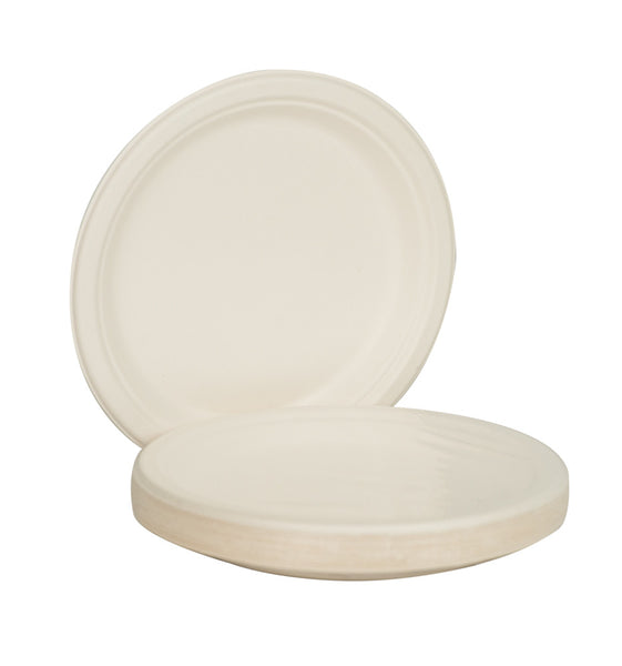 "Green2 Tree Free White Plates 8.86"" 500 ct - Green Valley Packaging"