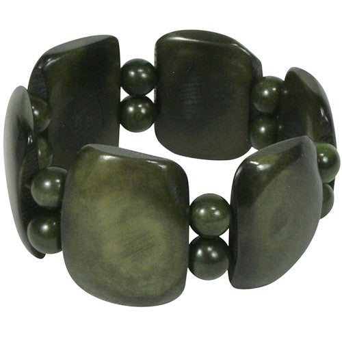 Avocado Tagua Bracelet from Ecuador - Green Valley Packaging