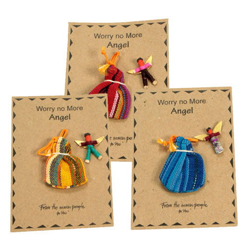 Angel Worry Doll with Bag from Guatemala - Green Valley Packaging