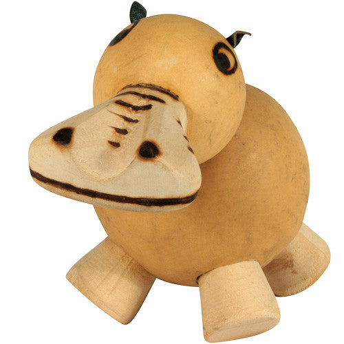 Bobble Head Gourd Hippo from Burkina Faso - Green Valley Packaging