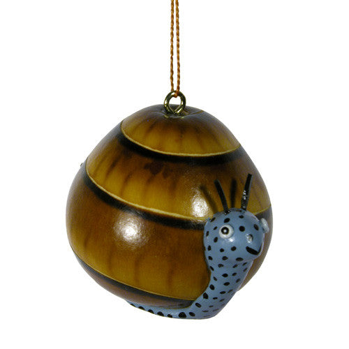 Ceramic Snail Gourd Ornament from Peru - Green Valley Packaging
