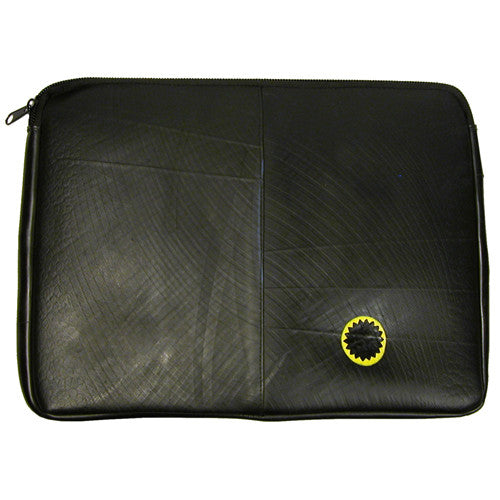 Laptop Sleeve Recycled Tire Tube from El Salvador - Green Valley Packaging