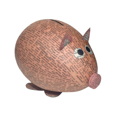 Paper Mache Pig Bank from the Philippines