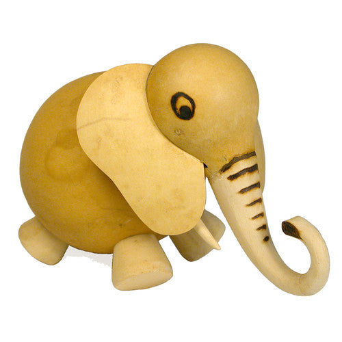 Bobble Head Gourd Elephant from Burkina Faso - Green Valley Packaging