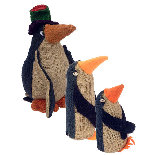 Jute Penguin Figurines from Bolivia - Green Valley Packaging