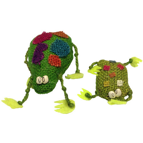 Jute Frog Figurines from Bolivia - Green Valley Packaging