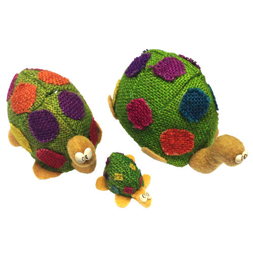 Jute Turtle Figurines from Bolivia - Green Valley Packaging