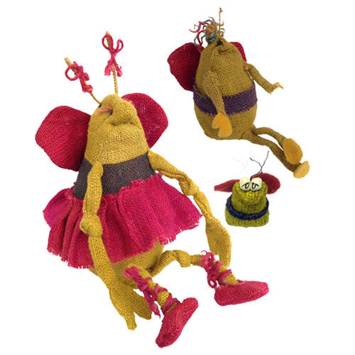 Jute Bee Figurines from Bolivia - Green Valley Packaging
