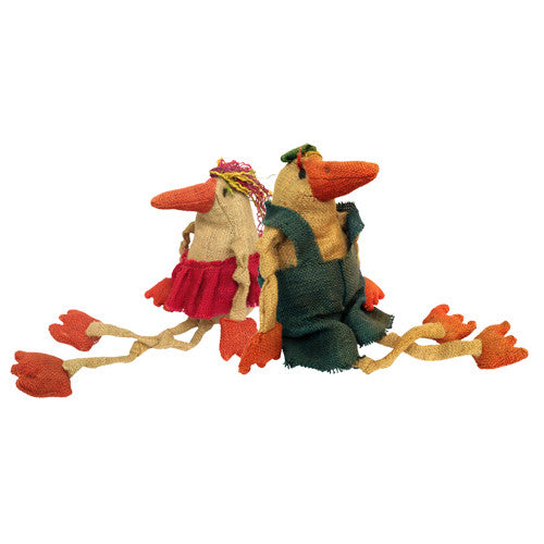 Large Jute Male and Female Bird Figurines from Bolivia - Green Valley Packaging