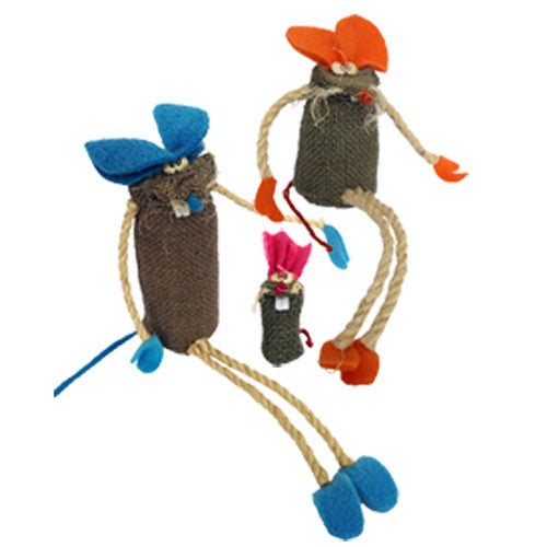 Jute Mice Figurines from Bolivia - Green Valley Packaging