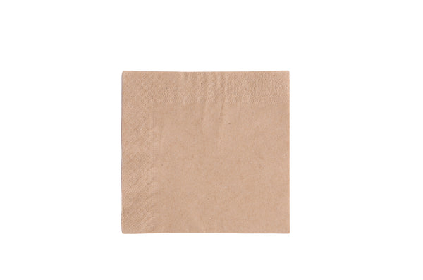 2-Ply Unbleached Napkin - 9.5 inch - Green Valley Packaging