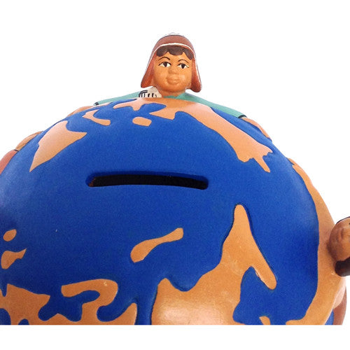 Ceramic World Bank from Peru - Green Valley Packaging